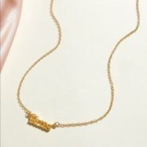 NWT Gold Aries Necklace